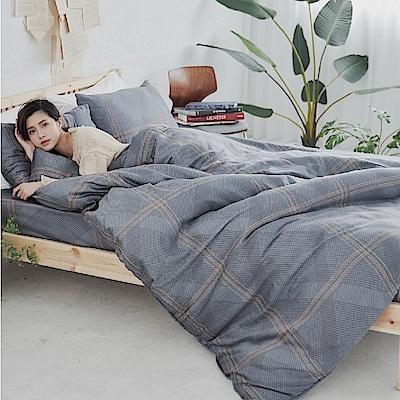 BUHO 100%TENCEL天絲床包枕套組-雙人特大(暗光幽語)