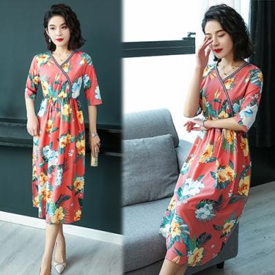 【韓國K.W.】特惠款風和日麗名媛洋裝-2色