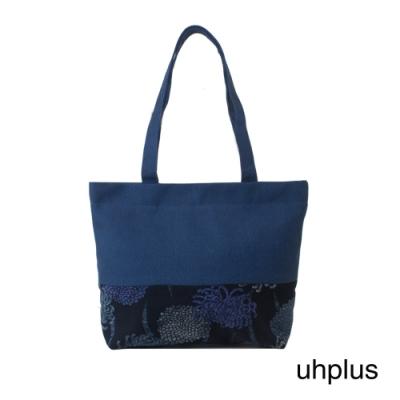 uhplus 和風輕托特- 咏菊(藍)