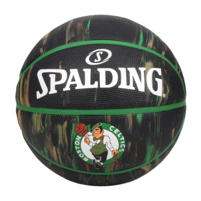 SPALDING NBA隊徽-塞爾提克 #7籃球-室外 7號球 運動 斯伯丁 SPA84094 黑綠棕