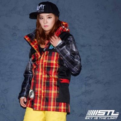 STL Snow 韓國戶外機能滑雪板/雪衣外套 男女款 紅黑灰格