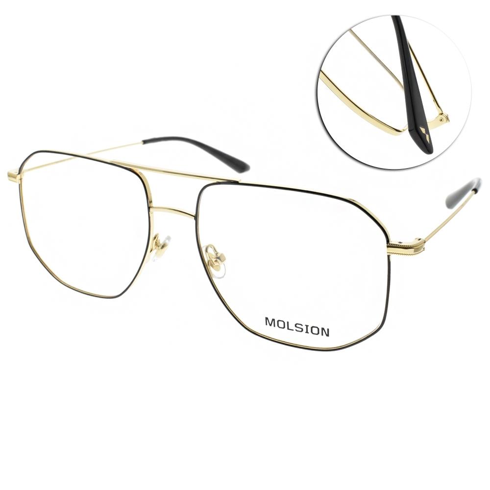 MOLSION 光學眼鏡 Angelababy代言 黑-金 # MJ7083 B12