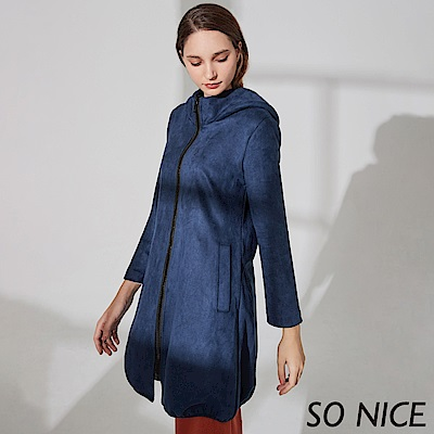 SO NICE個性造型領麂皮外套
