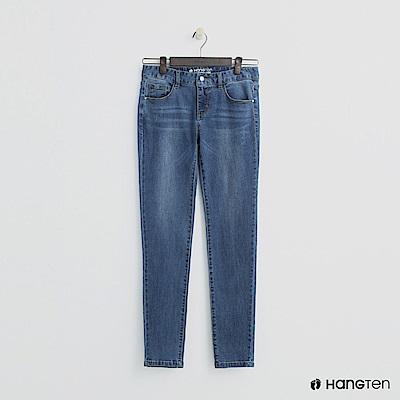 Hang Ten - 女裝 - 微磨破刷色牛仔褲 - 藍