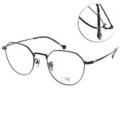 MA-JI MASATOMO 光學眼鏡 圓框款/黑-灰琥 #PMJ058 C04
