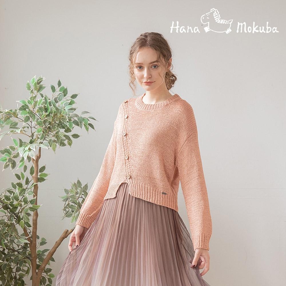 Hana-Mokuba-花木馬日系女裝氣質甜美圓領針織衫_粉