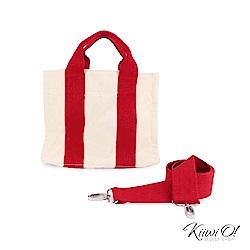 Kiiwi O! totebag | 兩用經典隨身帆布包 紅