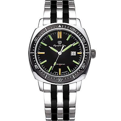OlympiaStar 奧林比亞之星 神盾系列氚氣石英手錶(98021TGSB)-雙色