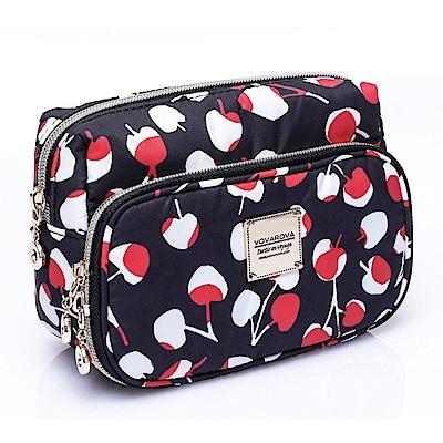 VOVAROVA空氣包-雙層化妝包-Cherrypicks(Black&Red)