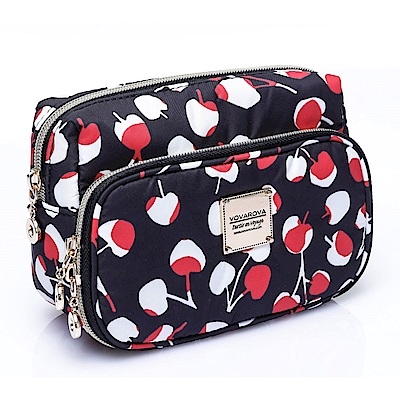 VOVAROVA空氣包-雙層化妝包-Cherrypicks-Black&Red