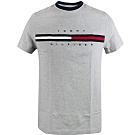Tommy Hilfiger FLAG LOGO棉質短袖T恤 (石南花灰)