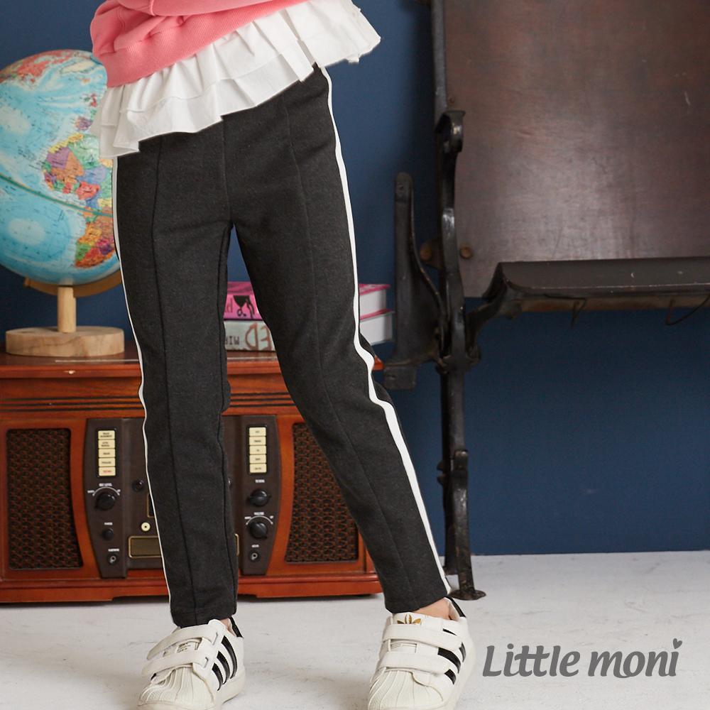 Little moni 側邊壓條彈性合身褲 (2色可選)