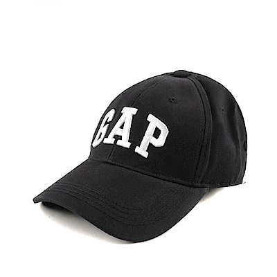 GAP 經典LOGO鬆緊帶式鴨舌帽-黑色