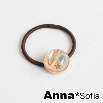 AnnaSofia 彩遊星球 純手工彈性髮束髮圈髮繩(淺粉系)
