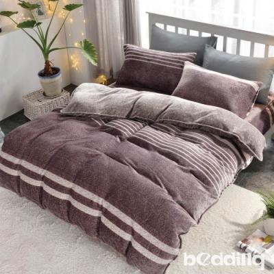 BEDDING-頂級法蘭絨-單人床包被套三件組-洛莉絲