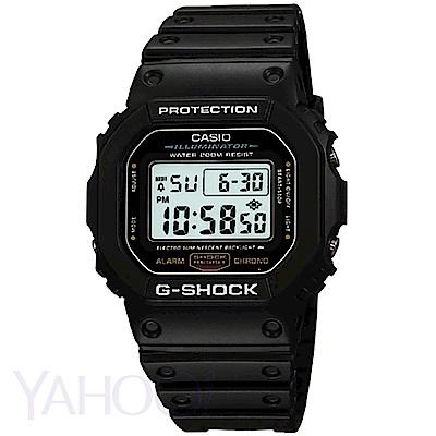 CASIO卡西歐 G-SHOCK 經典方形潮流休閒運動錶(DW-5600E-1)