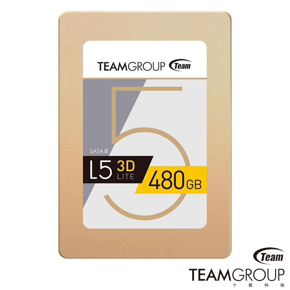 TEAM十銓 L5 Lite 3D 480GB 2.5吋 SSD固態硬碟