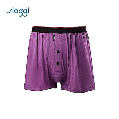 sloggi men Organic Cotton系列寬鬆平口褲 蔓越莓