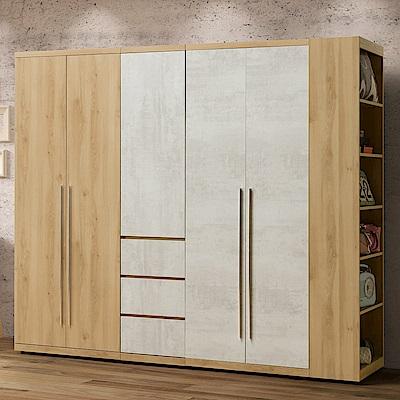 Homelike 蜜雪兒8尺組合衣櫃-235x57x202cm-免組裝