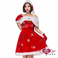角色扮演 優雅冬日 聖誕連身裙派對表演服(紅F) AngelHoney天使霓裳