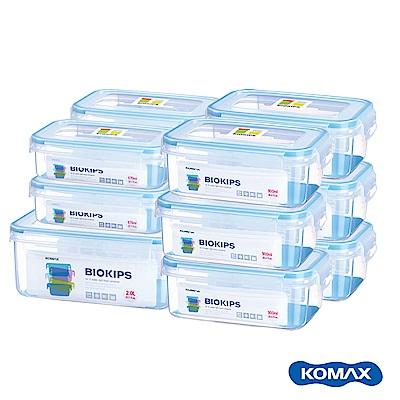 [時時樂限定][12件組]韓國KOMAX BIOKIPS耐熱方形保鮮盒