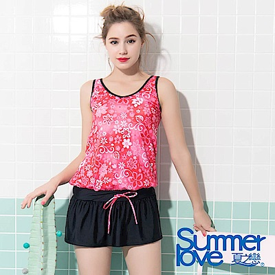 夏之戀SUMMER LOVE大女長版二件式泳衣-加大碼