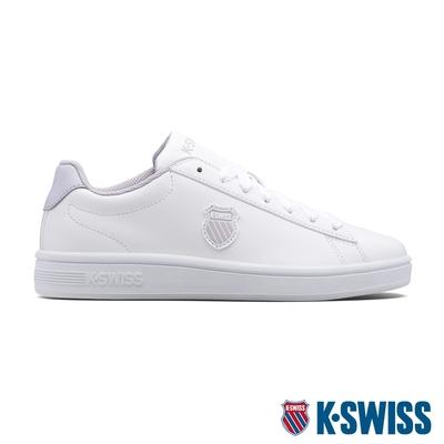 K-SWISS Court Shield時尚運動鞋-女-白/粉紫