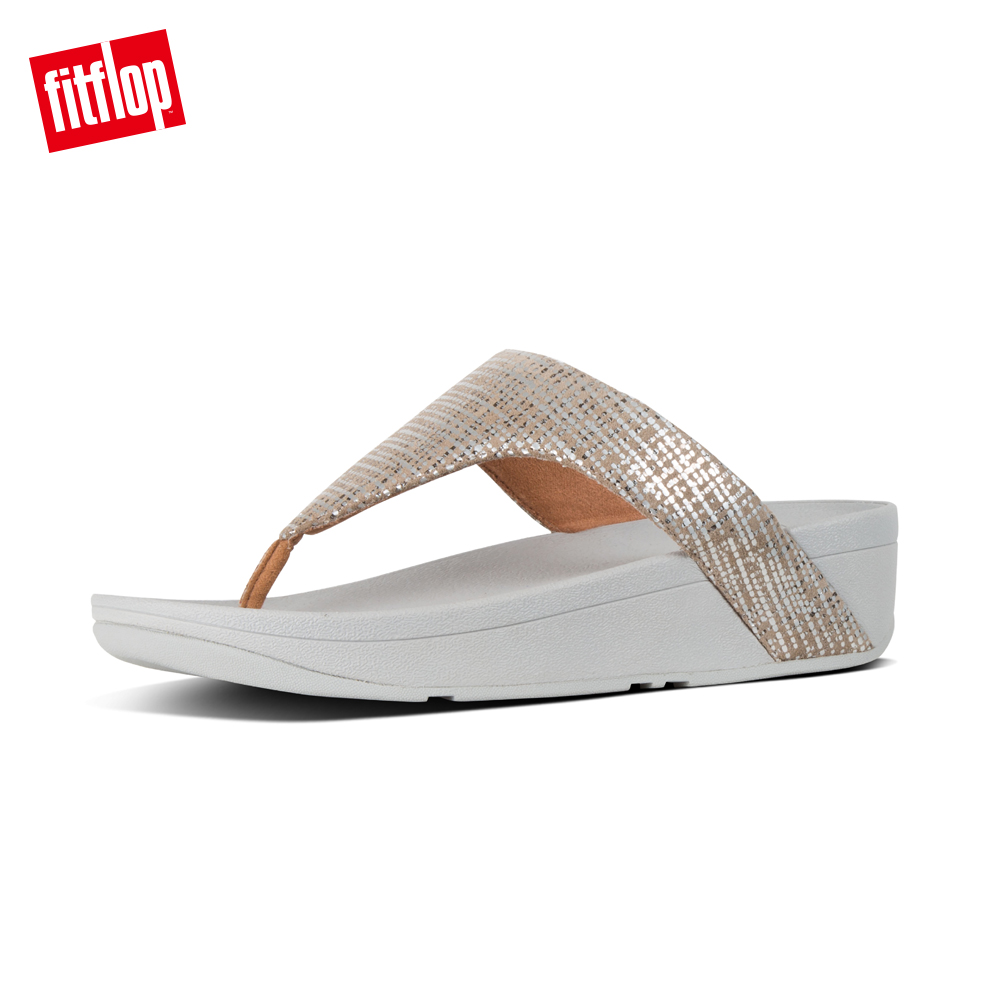 FitFlop CHAIN PRINT夾腳涼鞋銀色 product image 1