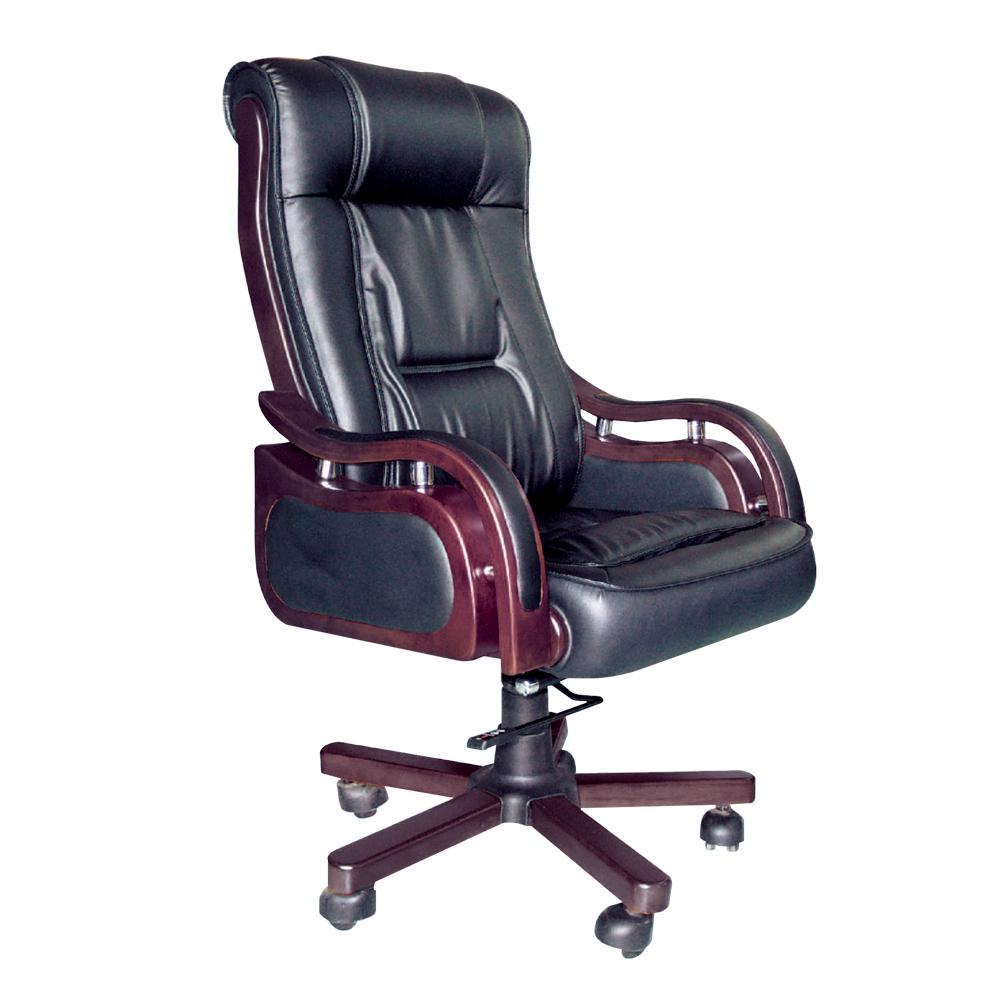 Bernice-薩利半牛皮主管辦公椅-70x70x132cm