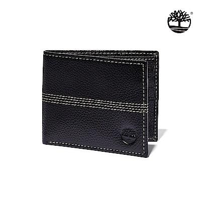 Timberland 中性黑色證件皮革短夾|A1COJ