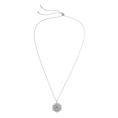 SWAROVSKI 施華洛世奇 Magic璀璨水晶大雪花造型銀色可調整項鍊