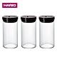 [日本HARIO]耐熱玻璃密封罐1L-黑(3入組) product thumbnail 1