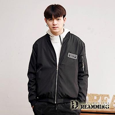 Dreamming CHICAGO輕薄飛行夾克外套-黑色