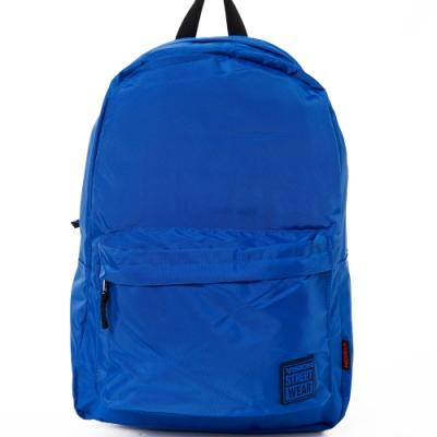 VISION STREET WEAR 潮牌時尚多色運動休閒雙肩後背包 寶藍 VB2031L