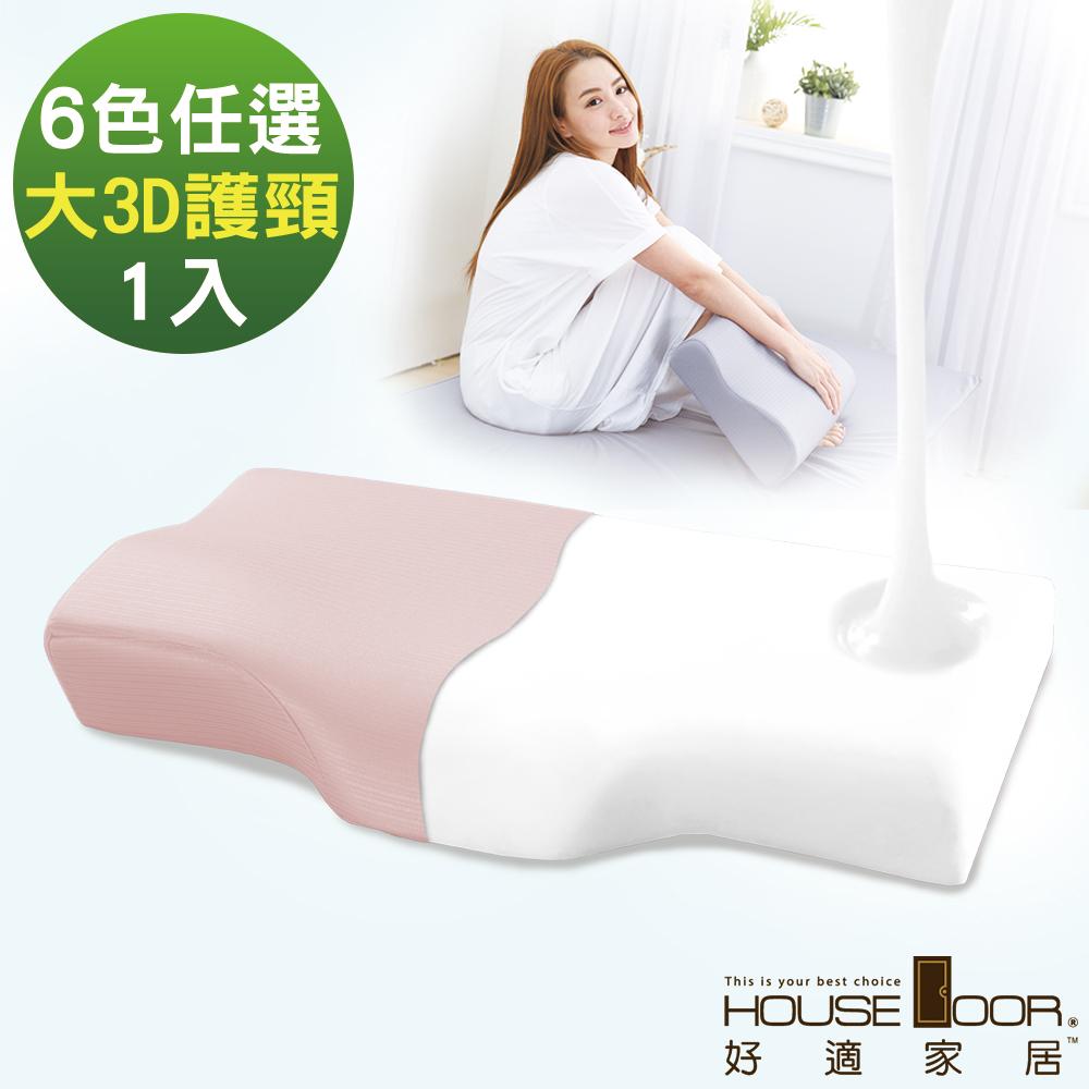 House Door 歐美熱銷款 大和防蹣抗菌表布3D護頸型釋壓記憶枕-大尺寸1入