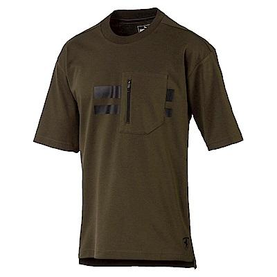 PUMA-男性法拉利經典系列Life短袖T恤-深林綠-歐規
