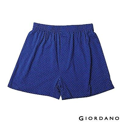 GIORDANO 男裝高品味沈穩條紋配色四角褲-74 點點X藍