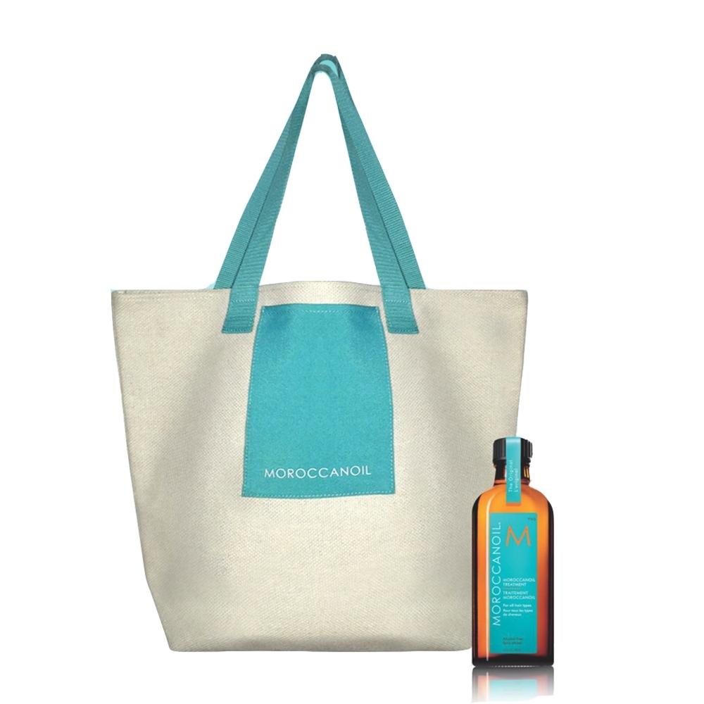 [時時樂限定] 摩洛哥優油帆布環保袋限量組(公司貨100ml+優油帆布包)