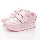 Reebok頂級童鞋 皮質炫銀邊飾運動鞋款 NI017粉(寶寶段)