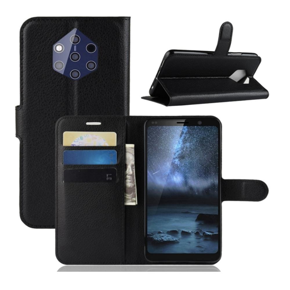 PKG Nokia 9 PureView 皮套 側翻式-精選皮套-經典款式-黑