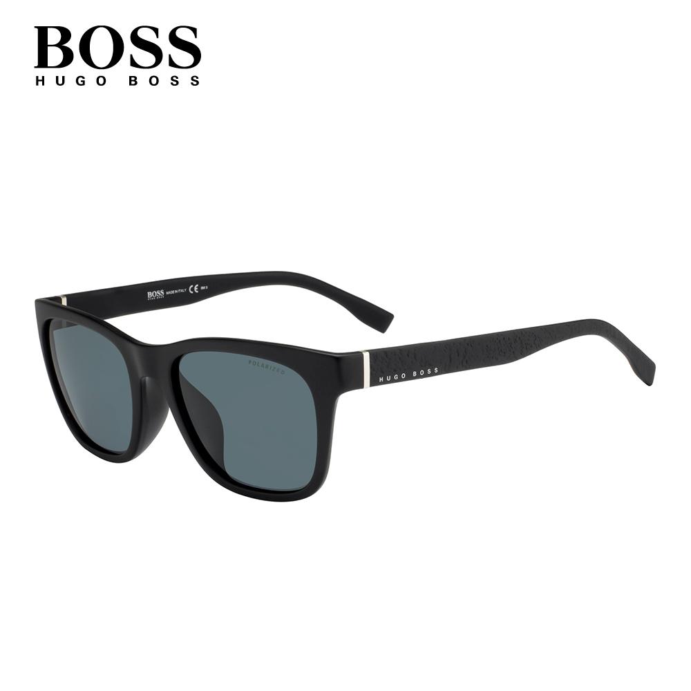 HUGO BOSS- BOSS 0856/F/S 方框太陽眼鏡 黑色