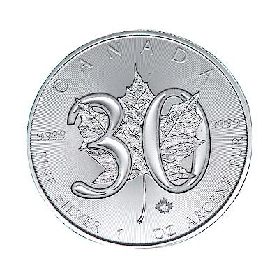 楓葉銀幣- 2018 年 30 週年紀念銀幣 ( 1 盎司)