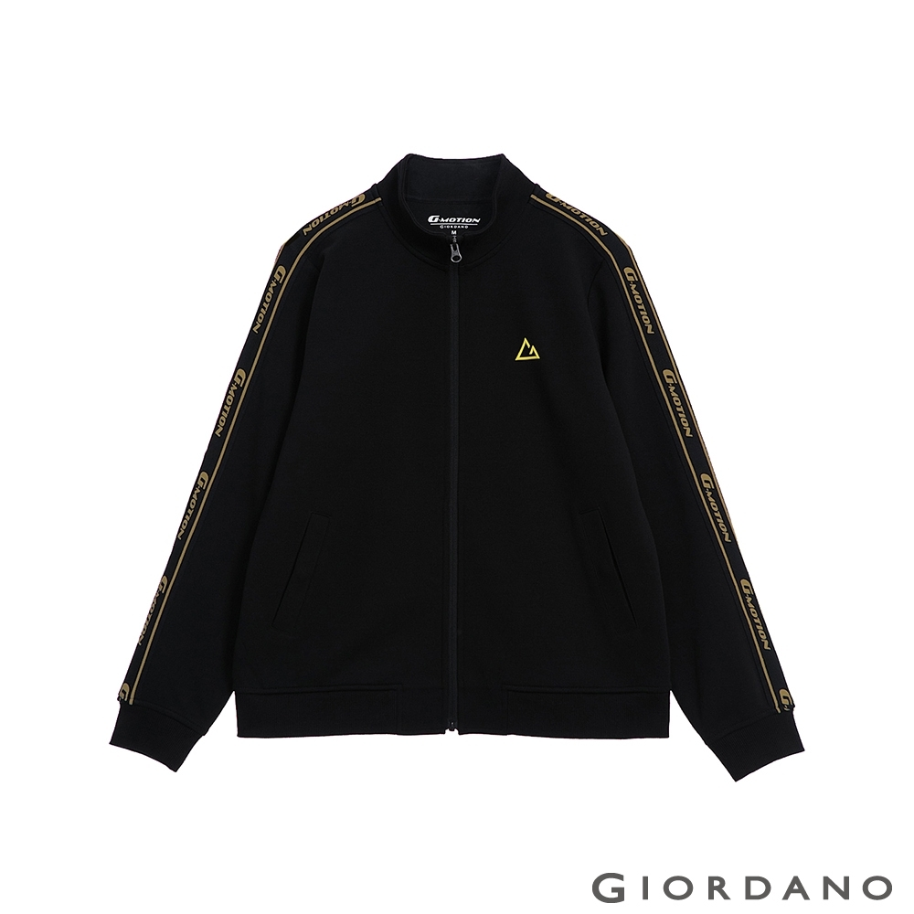 GIORDANO 女裝G-MOTION品牌LOGO運動外套 - 03 標誌黑