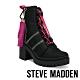 STEVE MADDEN-BETAMAX 潮流撞色造型粗跟短靴-黑色 product thumbnail 1
