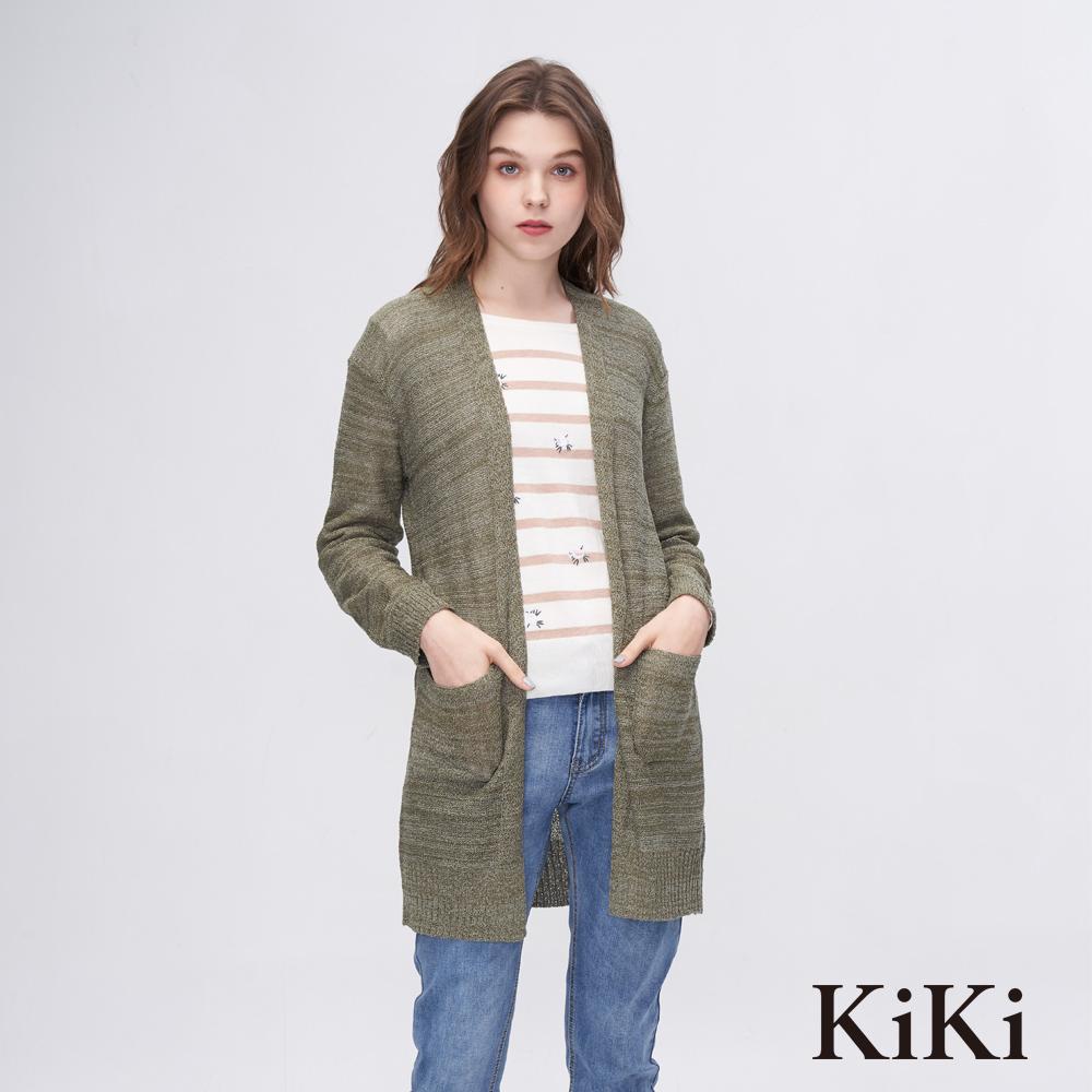KiKi INLook 素色貼膚針織外套(2色)-綠色