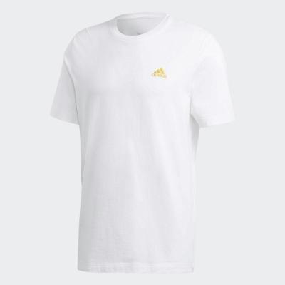 adidas 短袖上衣  訓練 慢跑 運動 男款 白 GL2218 GRAPHIC TEE