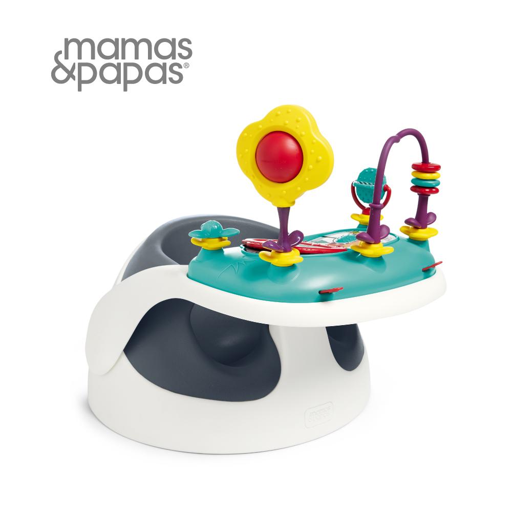 【Mamas & Papas】二合一育成椅v2含玩樂盤-岸岩藍