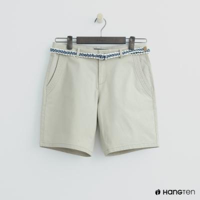 Hang Ten - 女裝 - 腰帶造型短褲 - 卡其