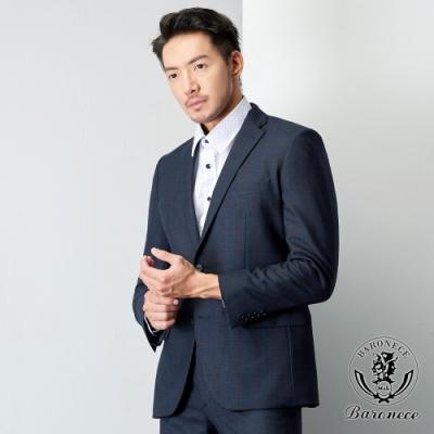 BARONECE 百諾禮士 優雅低調格紋西裝_藍(619306-10)