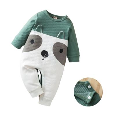 colorland綠色浣熊 長袖包屁衣 連身衣 童裝